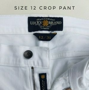 Lucky Brand, White, Straight Ankle/Crop leg pants